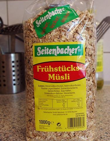 Seitenbacher Frühstücks-Müsli (Rosinen, Flockenmischung) 1000 g