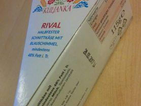 Rival , Halbfester Schnittkäse mit Blauschimmel 48% F.i. | Hochgeladen von: GatoDin
