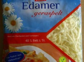 Edamer geraspelt, 40% Fett i. Tr. | Hochgeladen von: Graphologe