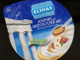 elinas joghurt nach griechischer art haselnuss honig kalorien joghurt fddb. Black Bedroom Furniture Sets. Home Design Ideas