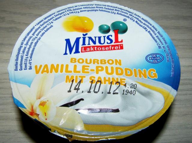 MinusL Bourbon-Vanille-Pudding mit Sahne 125 g
