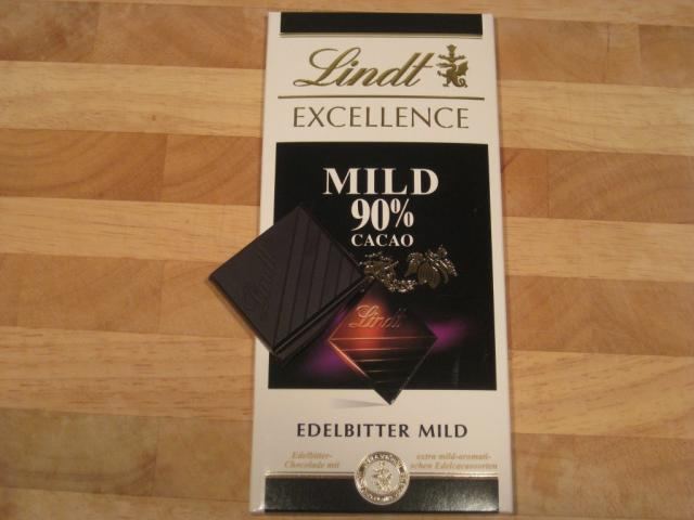 Lindt Excellence Mild 90 % Cacao Edelbitter mild 100 g