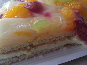 Obstkuchen aus Hefeteig, Durchschnitt | Hochgeladen von: SvenB
