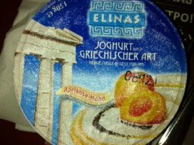 hochwald elinas joghurt nach griechischer art aprikose mohn kalorien joghurt fddb. Black Bedroom Furniture Sets. Home Design Ideas