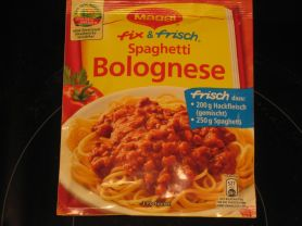 maggi fix spaghetti bolognese trockenprodukt kalorien. Black Bedroom Furniture Sets. Home Design Ideas
