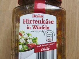 Hirtenkäse in Würfeln, abgetropft!, Paprika und Chili | Hochgeladen von: 8firefly8