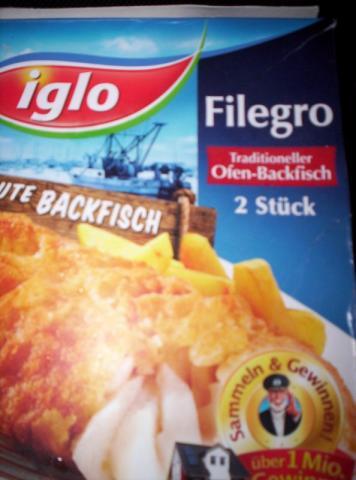fotos und bilder von fisch filegro traditioneller ofen backfisch iglo fddb. Black Bedroom Furniture Sets. Home Design Ideas