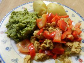 Leichte Gerichte : : Soja-Paprika-Pfanne | Hochgeladen von: maeuseturm