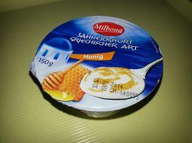 milbona sahnejoghurt griechischer art honig kalorien joghurt fddb. Black Bedroom Furniture Sets. Home Design Ideas