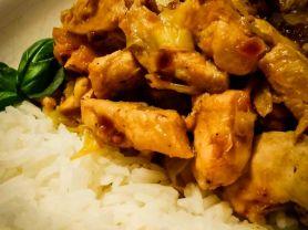 Hühnchen mit Ingwerspitzkohl und Reis   Hochgeladen von: die amethode
