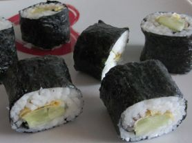 # Sushi: Hoso-Maki mit Omlett | Foto: Pinkzessin