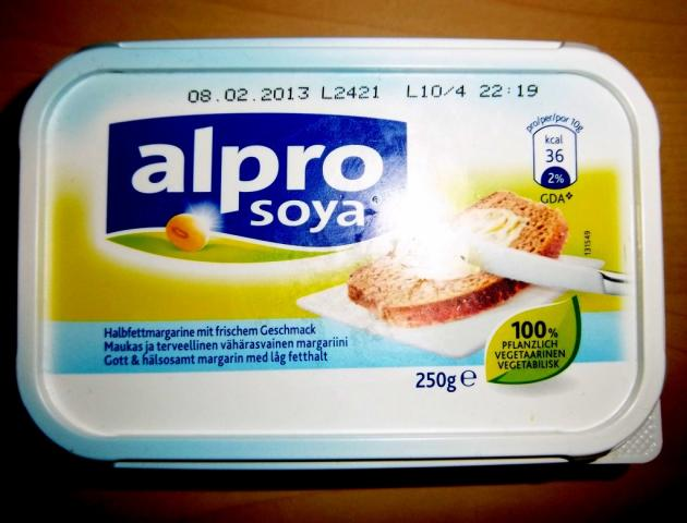 alpro soya Brotaufstrich mit 38% Fett 250 g