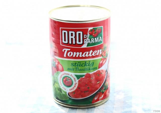 Hengstenberg Oro di Parma stückige Tomaten mit Basilikum 425 ml