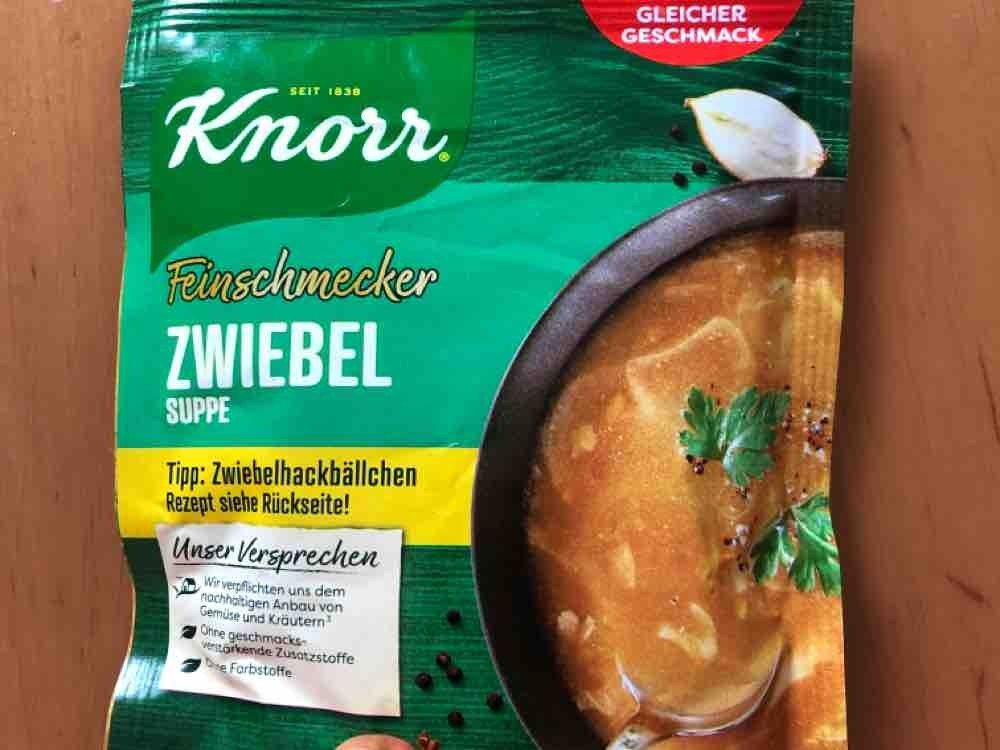 Knorr Feinschmecker Zwiebelsuppe Trockenprodukt von Melly | Hochgeladen von: Melly