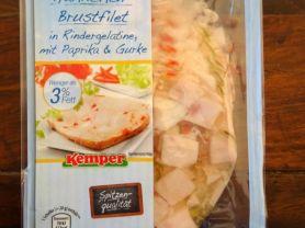 Hähnchen-Brustfilet in Rindergelantine mit Paprika & Gur | Hochgeladen von: arusha