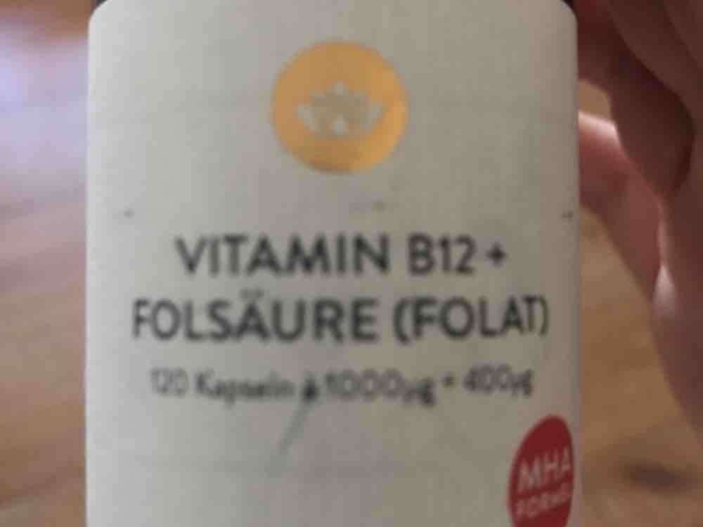 Vitamin B12+Folsäure (Folat), 0,4 mg Folsäure und MHA  Formel von anja.lee   Hochgeladen von: anja.lee