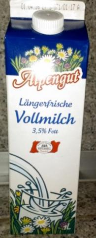Längerfrische Vollmilch 3,5% Fett    Hochgeladen von: E. J.