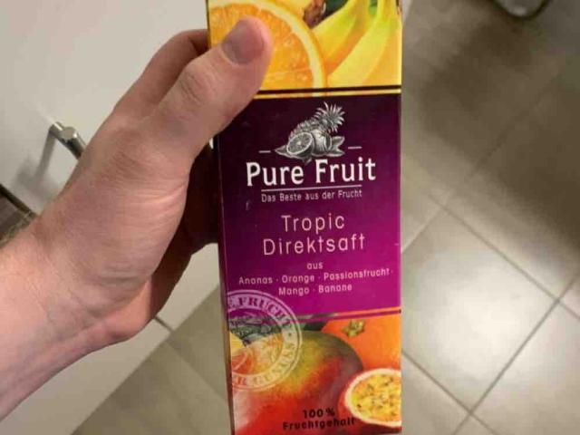 Tropic Direktsaft, aus Ananas, Orange, Passionsfrucht, Mango &  von florianoppelt   Hochgeladen von: florianoppelt
