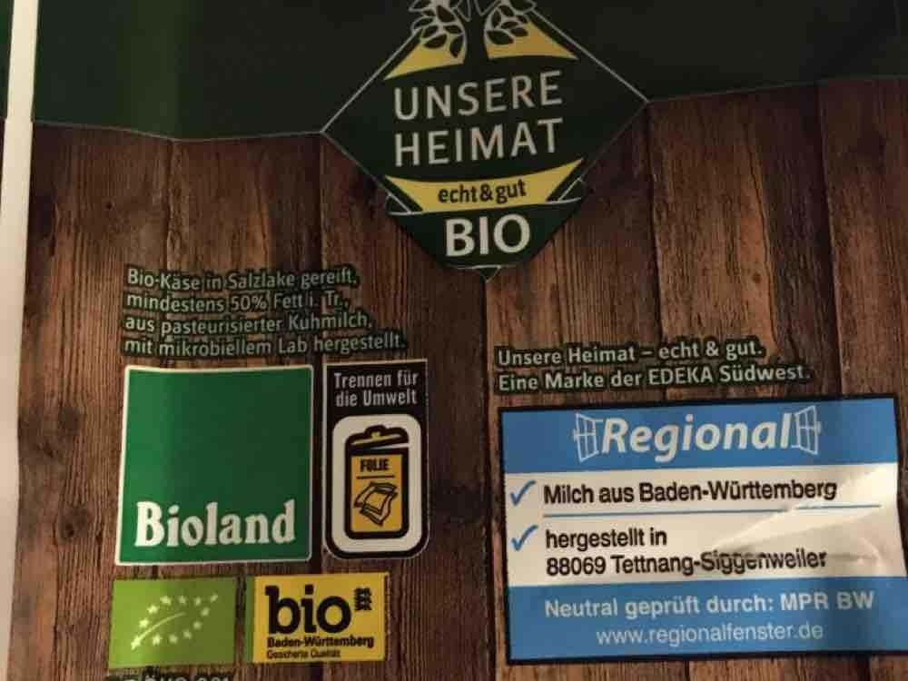 Unsere Heimat Bio Hirtenkase Kalorien Neue Produkte Fddb
