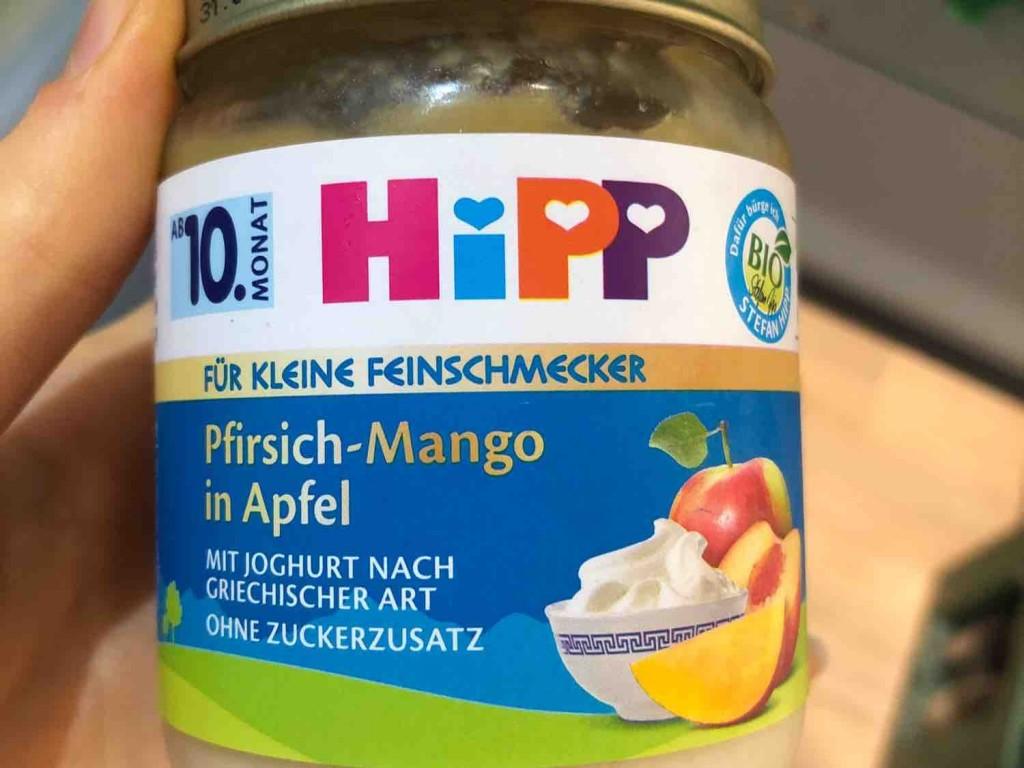 Pfirsich-Mango in Apfel, mit griechischem Joghurt von alexandra.habermeier   Hochgeladen von: alexandra.habermeier