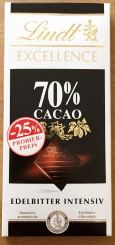 Lindt Excellence 70% Cacao, Edelbitter Intensiv  | Hochgeladen von: Pederle