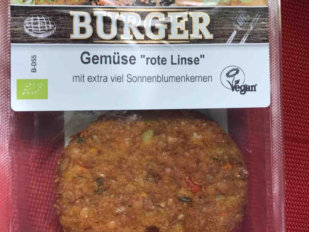 """Gemüse-Burger """"rote Linsen"""", Vegan Bio von avo   Hochgeladen von: avo"""