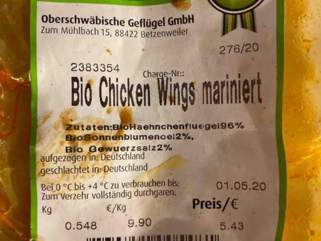 Bio Chicken Wings von Ermin7   Hochgeladen von: Ermin7