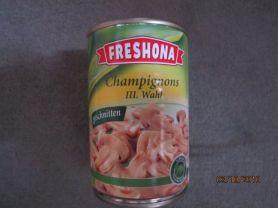 Champignons, III. Wahl (Freshona), geschnitten   Hochgeladen von: Fritzmeister