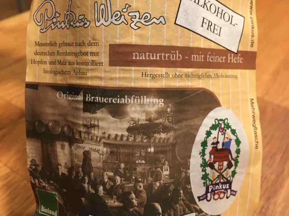 Pinkus Weizen naturtrüb - mit feiner Hefe, Alkohol-Frei von derIbo   Hochgeladen von: derIbo