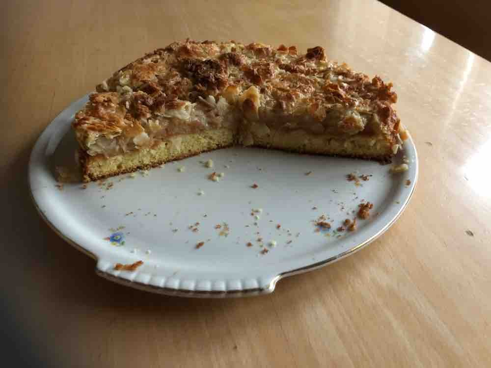 Apfelkuchen aus Rührteig, mit Mandeln bestreut von markbauer | Hochgeladen von: markbauer