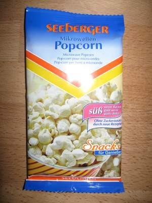 Seeberger Mikrowellen Popcorn, süß | Hochgeladen von: Curlysue