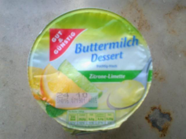 Gut & Günstig Buttermilch Dessert, Zitrone-Limettte   Hochgeladen von: sil1981
