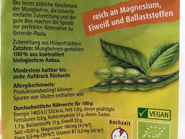 Spirelli aus 100% Mungbohnen von phenomexotic | Hochgeladen von: phenomexotic