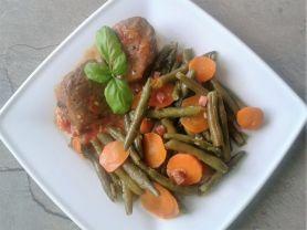 Bohnen- Karottengemüse   Hochgeladen von: enele