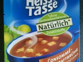 Heisse Tasse, Consommé - Rinderkraftbr&am, mit knuspe | Hochgeladen von: huhn2