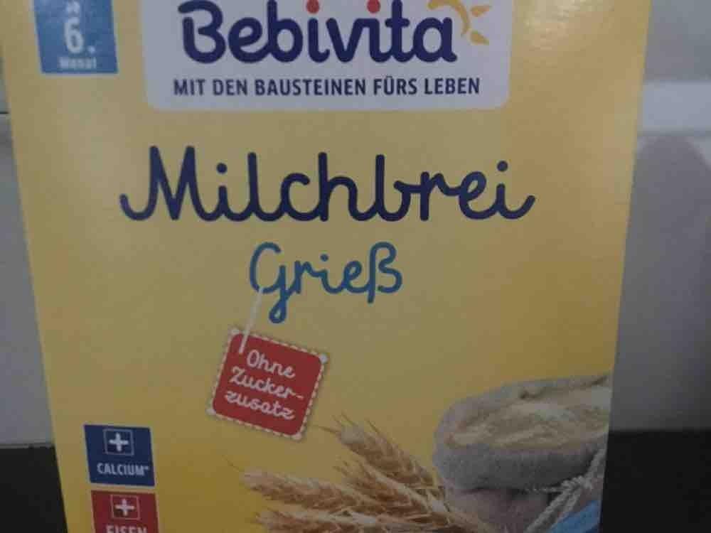 Milchbrei Grieß Bebivita, mit Wasser zubereitet von coolmisses | Hochgeladen von: coolmisses