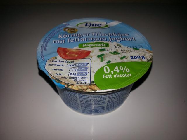 Körniger Frischkäse mit fettarmen Joghurt, Magerstufe | Hochgeladen von: slopi69