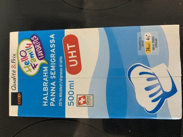 Coop Halbrahm 25% Milchfett PAST, Rahm   Hochgeladen von: cyrson674