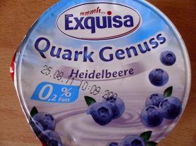 Quark Genuss 0,2%, Heidelbeere   Hochgeladen von: diekleineolga