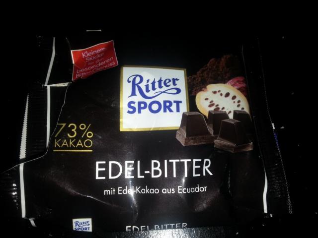 Ritter Sport, Edel-Bitter 73 % Kakao   Hochgeladen von: Misio