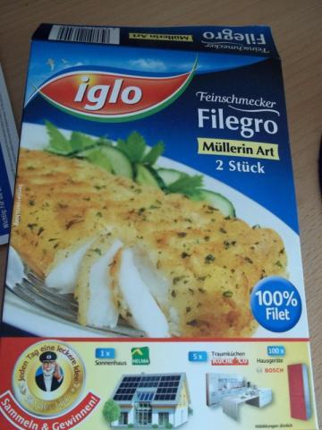 Iglo Filegro  - tiefgefroren, Müllerin Art   Hochgeladen von: Mausi42
