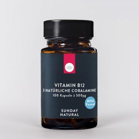 Vitamin B12 3 Natürliche Cobalamine 500mcg | Hochgeladen von: kilowax350