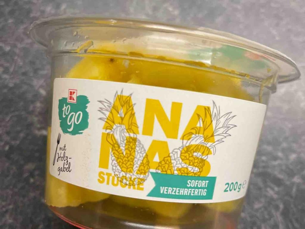 Ananas frisch, verzehrfertig mit Gabel von infoweb161 | Hochgeladen von: infoweb161
