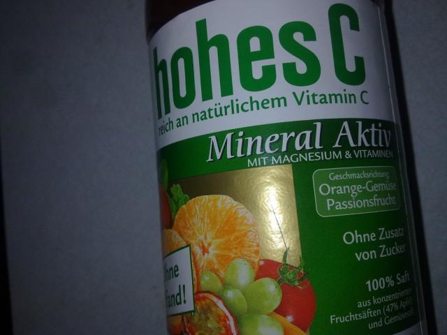 Fotos und Bilder von Getränke, Hohes C, Mineral Aktiv (Eckes-Granini ...