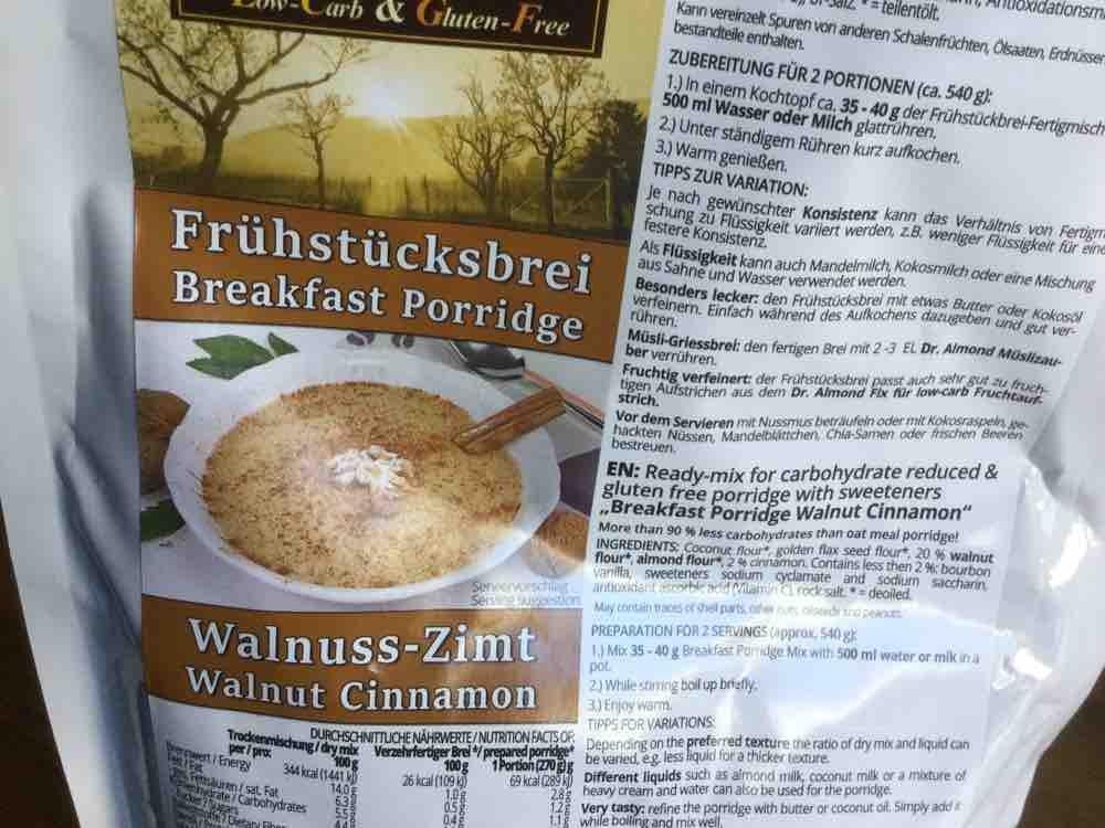 Almond - Frühstücksbrei Walnuss-Zimt von gika   Hochgeladen von: gika