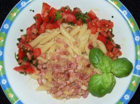 Penne-Carbonara mit Tomaten | Hochgeladen von: IamX