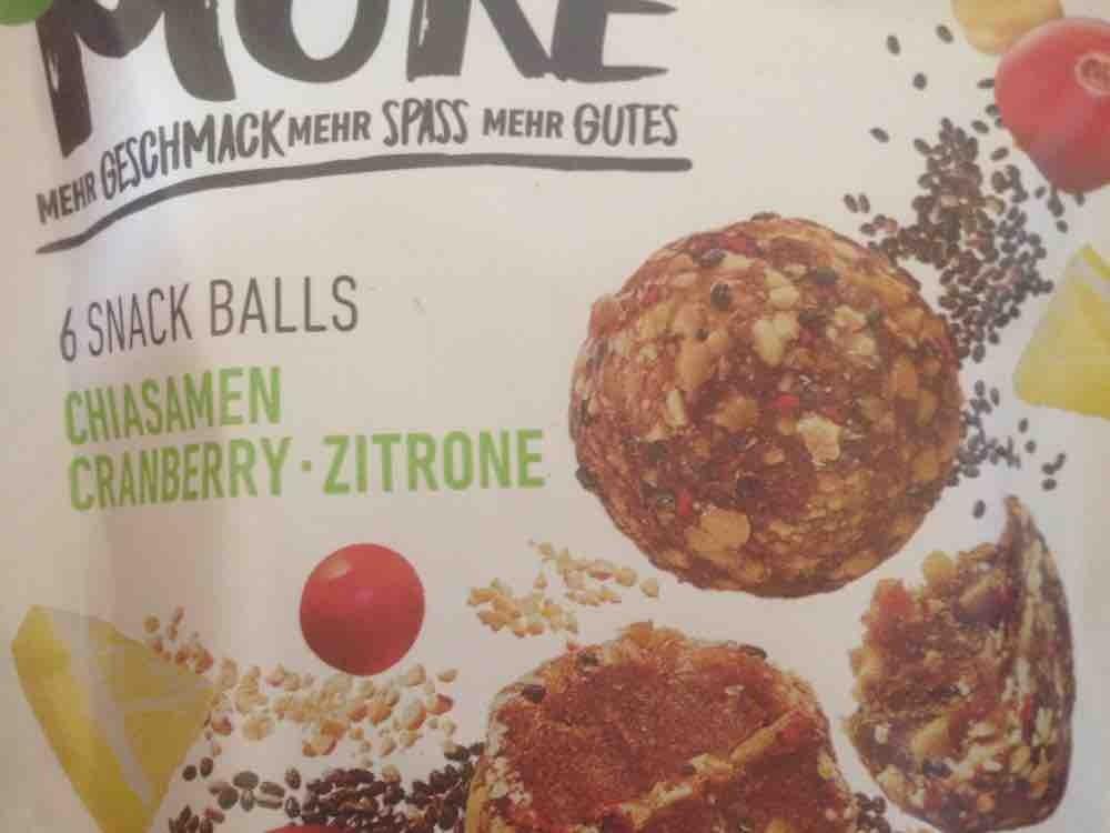 Snack Balls, Chiasamen Cranberry Zitrone von Vianne | Hochgeladen von: Vianne