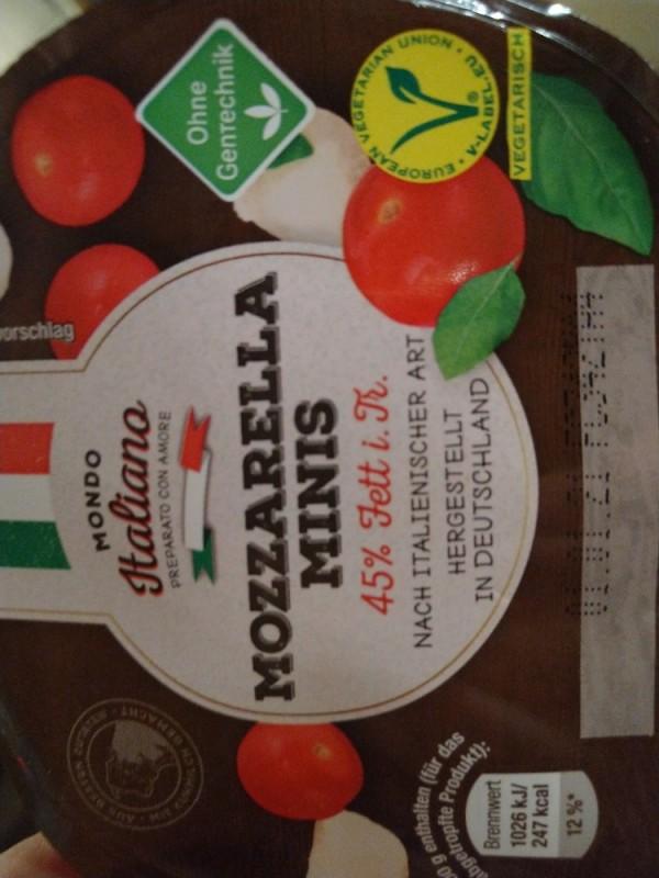 Mozzarella Minis, 45% Fett von Schakaline   Hochgeladen von: Schakaline