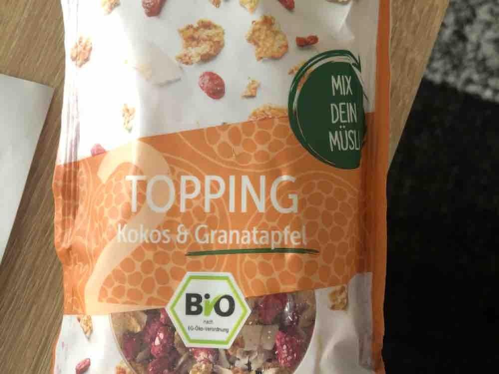 Topping Kokos & Granatapfel, Aldi Müsli von Vany | Hochgeladen von: Vany
