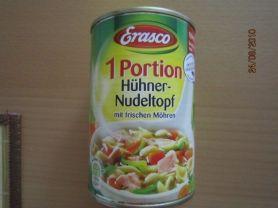 1 Portion, Hühner-Nudeltopf   Hochgeladen von: Fritzmeister